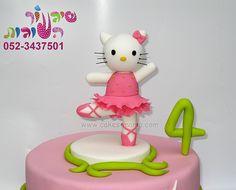hallo kitty balerina cake 2 by cakes-mania עוגת הלו קיטי -בלרינה מאת שיגעון העוגות - www.cakes-mania.com