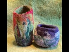 Wet Felted Wool Bowl - YouTube