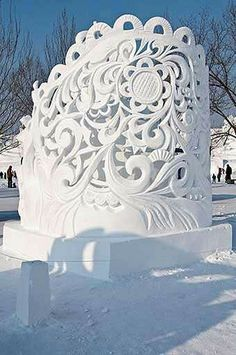 Very Detailed Snow Sculpture