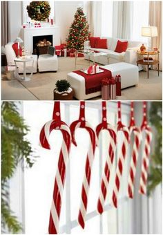 candy cane decor - Christmas Candy Cane Decorations