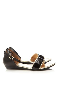 Wallace black wedge sandals
