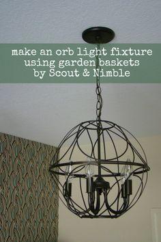 DIY orb light fixture