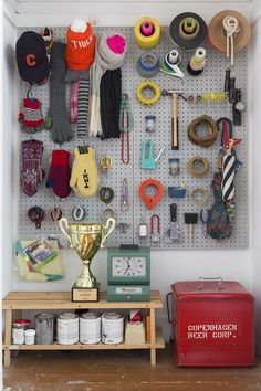 A visual argument for embracing pegboard organizing.