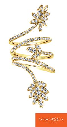 18k Yellow Gold Diamond Ring by Gabriel & Co.