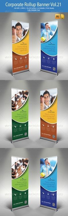Corporate Rollup Banner Vol.21