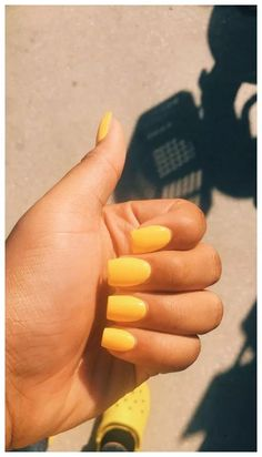 May 2020 - yellow nails acrylic short \\ yellow nails _ yellow nails acrylic _ yellow nails design _ yellow nails short _ yellow nails coffin _ yellow nails acrylic coffin _ yellow nails with glitter _ yellow nails acrylic short Acrylic Nails Yellow, Short Square Acrylic Nails, Acrylic Nails Coffin Glitter, Simple Acrylic Nails, Best Acrylic Nails, Summer Acrylic Nails, Acrylic Nail Designs, Simple Nails, Coffin Nails