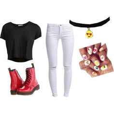 My kinda emoji style by mayizquierdo13 on Polyvore featuring polyvore güzellik Pieces ONLY Dr. Martens