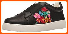 Nine West Women's Pirin Leather Fashion Sneaker, Black/Multi, 9.5 M US - All about women (*Amazon Partner-Link)