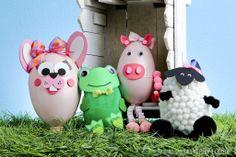 DIY Easter egg animals...make the whole set for a fun family project!
