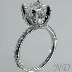 Engagement Rings :: 2.57ct. Pave Set  Diamond  Engagement  Ring