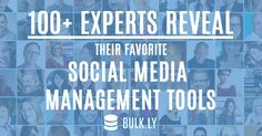 Great insights from top social media professionals (I'm also on the list) on the BEST tools to manage your social media presence.