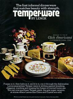 Lenox Temper-ware informal dinnerware sets (1974