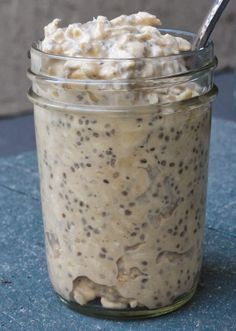 Peanut Butter Overnight Oats. Four ingredients #vegan