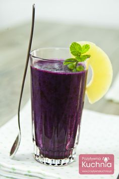 #Koktajl jagodowy - #przepis krok po kroku  http://pozytywnakuchnia.pl/koktajl-jagodowy/  #kuchnia #jagody