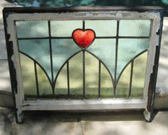 23.5 (9 bids) Antique Victorian Leaded Stained Glass Window Fragment ...