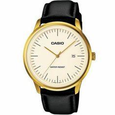 Montre Casio Vintage - Bracelet cuir - Cadran doré - Vintage style -