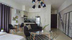 A Bachelor-Themed Pad Gets A Modern Contemporary Look Bachelor Room, Bachelor Decor, Small Space Living, Living Area, Real Living Magazine, Modern Interior, Interior Design, Zen Style, Small Condo