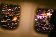 Vegas! love the view from the plane when landing at night <3
