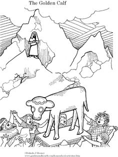 bible coloring pages about aaron-#25