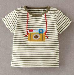 Fun Appliqué T-shirt- mini boden Baby Outfits, Kids Outfits, Toddler Outfits, Vêtements Goth Pastel, Vêtement Harris Tweed, Couture Bb, Diy Vetement, Mini Boden, Kids Fashion