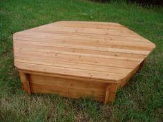 Hexagonal Wooden Sandpit Lid  - Outdoor Play  - Garden Games- Garden Furniture