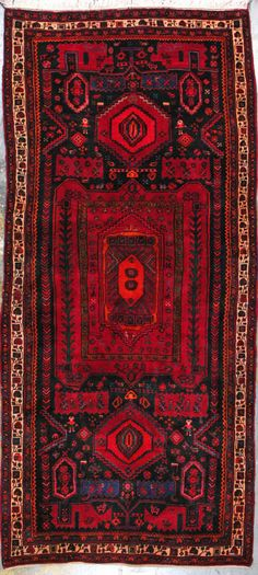 "Nahavand Persian Rug, Buy Handmade Nahavand Persian Rug 4' 9"" X 11' 1"", Authentic Persian Rug"