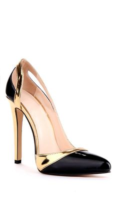Black & Gold Pumps