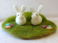 Spring bunny decoration - Easter centerpiece