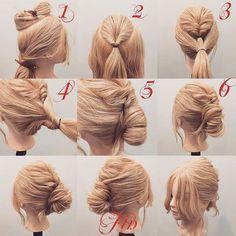 Best Long Hairstyles - November 27 2018 at Bun Hairstyles, Pretty Hairstyles, Wedding Hairstyles, Updo Hairstyle, Wedding Updo, Hair Styles 2016, Medium Hair Styles, Long Hair Styles, Easy Updos For Long Hair