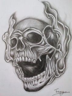 Skull and Cross Tattoo Designs | smoke skull tattoo by tommyyu designs interfaces tattoo design 2013 ...
