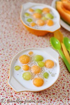 Read all of the posts by Alan (travellingfoodies) on travellingfoodies Non Bake Desserts, Asian Desserts, Sweet Desserts, Delicious Desserts, Chinese Desserts, Yummy Treats, Sweet Treats, Sago Recipes, Melon Recipes