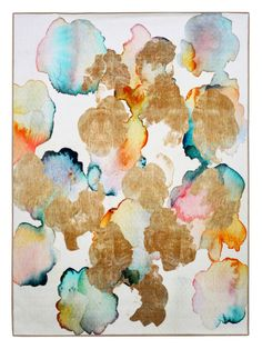 Rose Gold Garden Rug from Contemporary Rugs on Gilt