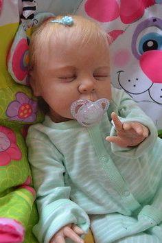OOAK Reborn baby girl with 3d skin Chrissy art doll artist newborn
