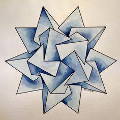 #regolo54 #solid #polyhedra #star #pentagon #geometry #symmetry #pattern…