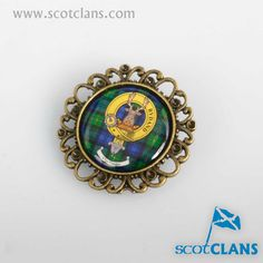 Gordon Clan Crest Antique Brooch