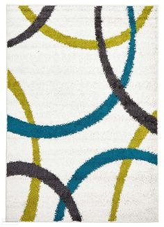 Modern Rugs, Modern Decor, Turquoise Rug, Different Tones, Polypropylene Rugs, Transitional Rugs, Machine Made Rugs, White Rug, Grey Rugs