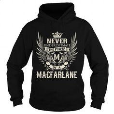 MACFARLANE M - #men hoodies #cool shirt. GET YOURS => https://www.sunfrog.com/LifeStyle/MACFARLANE-M-Black-Hoodie.html?id=60505