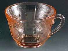 Old colony avoid reproduction pink depression glass by for Most valuable depression glass patterns