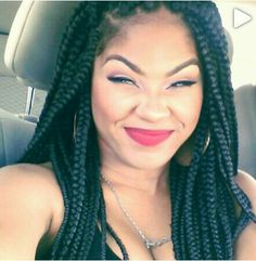 BOX BRAIDS / BRAIDS / LONG BRAIDS / SYNTHETIC HAIRSTYLES / SYNTHETIC HAIR / NINJA BUN / HAIR DO / POETIC JUSTICS BRAIDS  / BRAIDED HAIR / PROTECTIVE HAIR STYLE