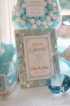 Elegant Tiffany Blue Candy or Dessert buffet, love it