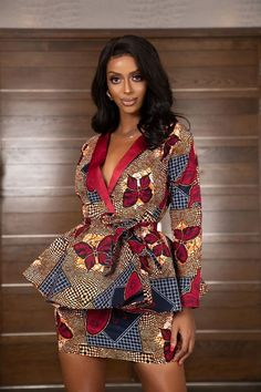 Chic Ankara dress styles can be worn to different occasion and you won't feel out of place. In fact chic Ankara dress styles coordinated with complementing accessories have a way of enhancing your overall look. African Fashion Ankara, African Inspired Fashion, Latest African Fashion Dresses, African Print Fashion, Africa Fashion, Modern African Fashion, Short African Dresses, African Print Dresses, African Prints