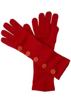 Dollar Store Gift idea!     Buy long sleeved knit gloves for $1 and add large fabric wool or herringbone buttons on the side for Modcloth/Anthro style.     Maybe even use patterned fabric on the buttons for a more custom look.    If you're crafty enough you could also try embroidering their intials on the top button of each glove.