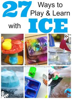 Explore *27 Ways to Play and Learn with ICE* with your toddler and preschooler this year! Ice play is a great way to cool down in the hot summer months.  We are also giving away 3x $500 CASH prizes !!! (20June14-09July14)
