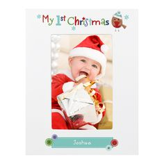 5962ccc260736 Felt Stitch Robin My 1st Christmas 6x4 White Wooden Frame Meaning Of  Christmas, 1st Christmas
