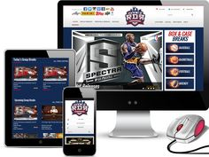 Shopping cart website design by Red Spot Design.  Check out this new website at http://rdrsportscards.com/