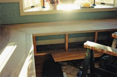 how to make a banquette using cabinets