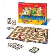 $29.99 - The aMAZEing Labyrinth uses a clever board design to create a series of ever-changing mazes that players must move through. The object of the game is for each player to collect as quickly as possible all seven treasures depicted on their individual treasure cards. To add to the challenge, players know what the next treasure is only after they find the one before it. Before each turn, a maze card is pushed into the maze in a strategic place, helping the player make his or her way…