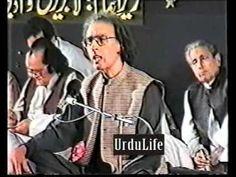 Dr. Pirzada Qasmin recites his poetry [mehfil e mushaira]