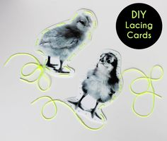Free printable lacing cards, perfect for spring!