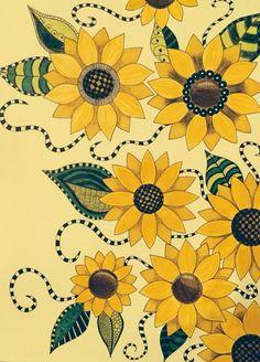 Sunflowers created by Lynne Alderman DeWitt
